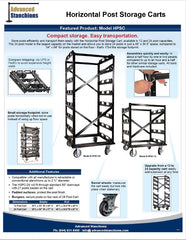 Visiontron Storage Cart Flyer | Advanced Stanchions