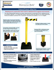 Visiontron Utility Post Flyer 2014 | Advanced Stanchions