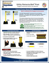 Advanced Stanchions Retracta-Belt Utility Post Flyer