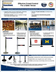 Advanced Stanchions Venue Management Flyer | Stanchions Retracta-Belt