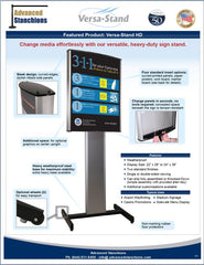 Visiontron Versa-Stand HD Sign Stand Flyer | Advanced Stanchions