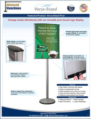 Visiontron Versa-Stand Post Sign Stand Flyer | Advanced Stanchions
