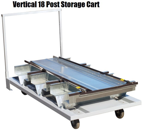 Visiontron Vertical Post Storage Cart | Advanced Stanchions