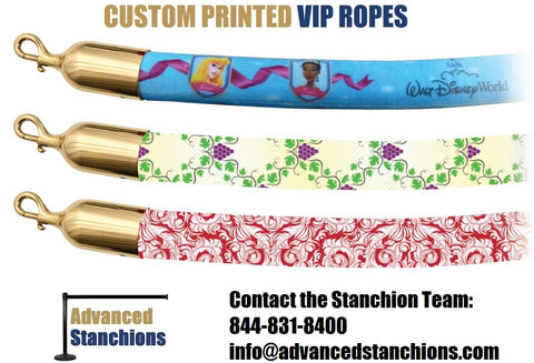 Visiontron Custom Printed VIP Microfiber Ropes | Advanced Stanchions