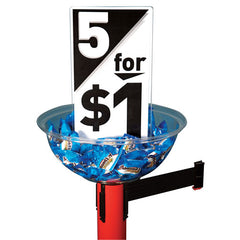 Visiontron Impulse Buy Bowl & Signage for Merchandising | Advanced Stanchions