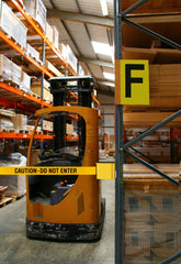 Visiontron Caution Do Not Enter Warehouse Safety Barrier | Advanced Stanchions