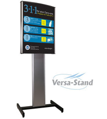 Visiontron Versa-Stand HD Sign Stand | Advanced Stanchions