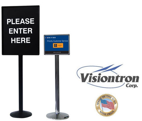 Visiontron 3' Tall Dome Base Conventional Sign Posts