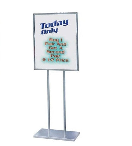 Visiontron Floor Standing Bulletin Sign Holder - Inner Legs