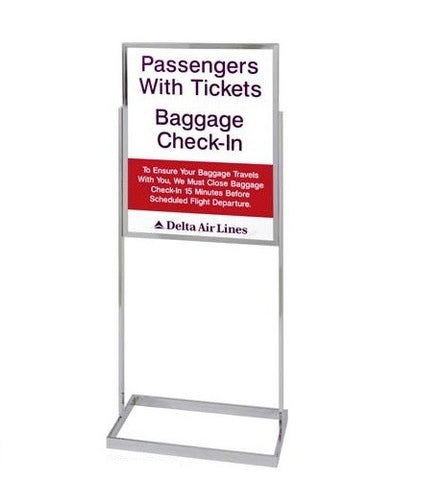 Visiontron Floor Standing Bulletin Sign Holder - Outer Legs