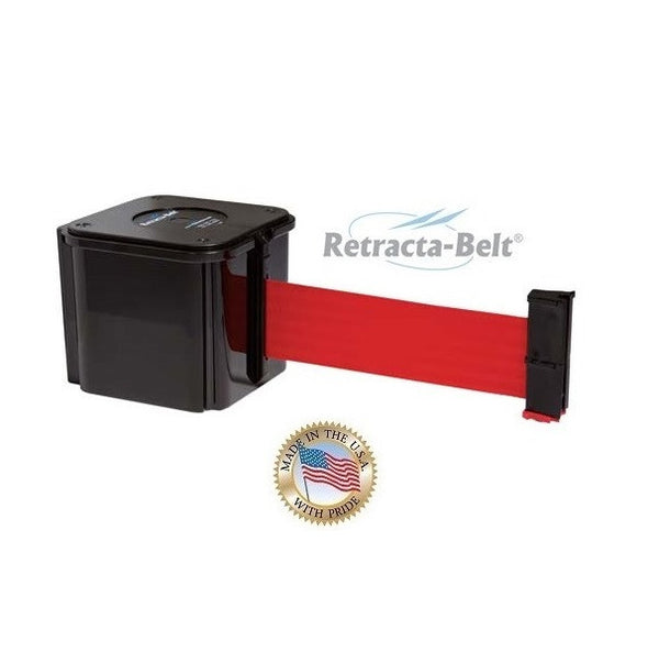 Visiontron Wall Mount Retracta-Belt 412 Series - Black - 15' Belt