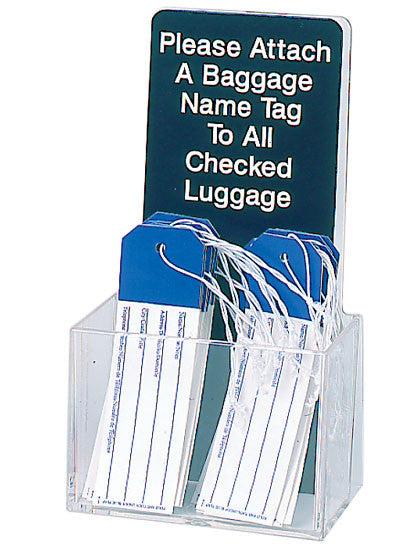 Visiontron Countertop Baggage Name Tag Holder
