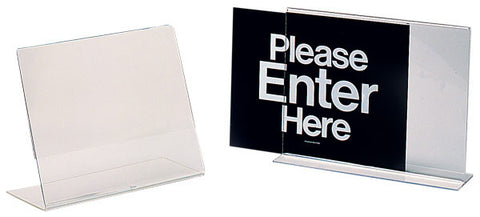 Visiontron Countertop Clear Acrylic Sign Holder