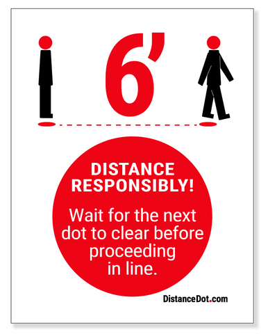 "Direction Dot Sign - 8.5"" x 11"" Cardstock"