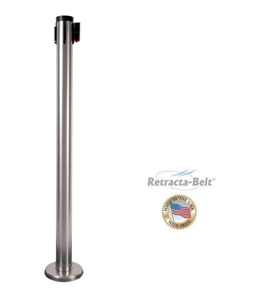 Visiontron Magnetic Mounted Retracta-Belt Post - 30' Belt - Outdoor Ready