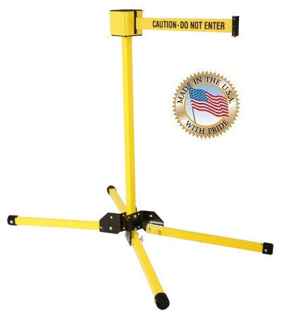 Visiontron Retracta-Belt Single Line Post - 30' Belt - Outdoor - Stand Mount