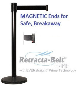 Retracta-Belt PRIME MAGNETIC BELT ENDS Indoor - Set of 2 Posts- 10ft Belts
