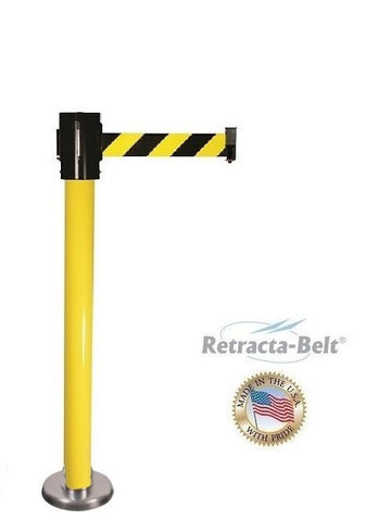 Visiontron Magnetic Mounted Retracta-Belt Post - 10' Belt - PVC Outdoor Ready