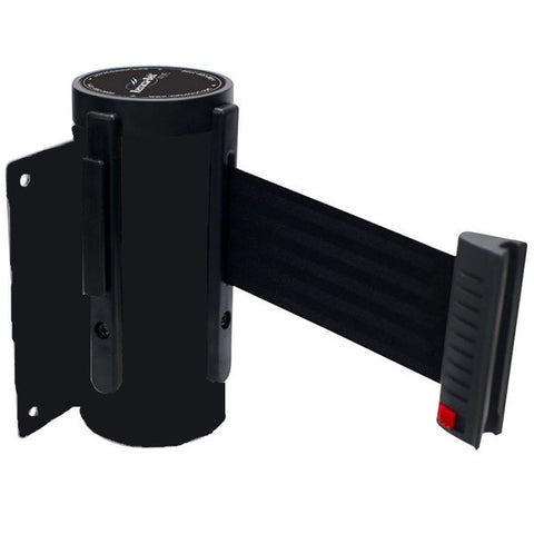 Retracta-Belt PRIME Wall Mount Barrier - BLACK - 10ft Belt
