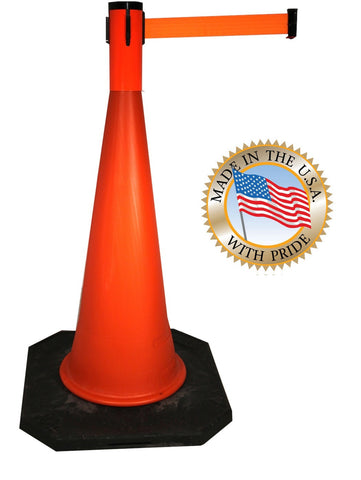 Visiontron Retracta-Cone Cone Toppers - 15' Belt - Orange