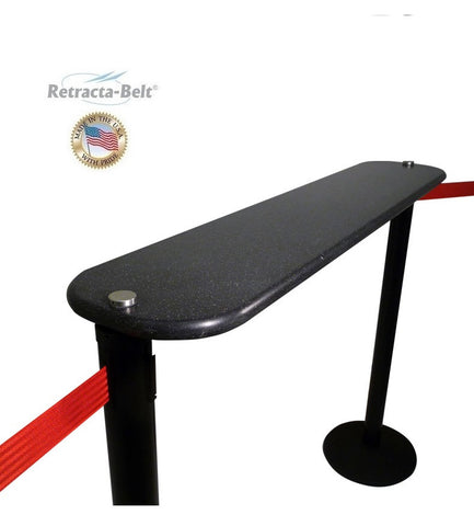 Visiontron Post Mount Writing Table for Retracta-Belt