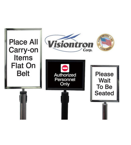 Visiontron Heavy Duty HD Sign Frames - Square Corners