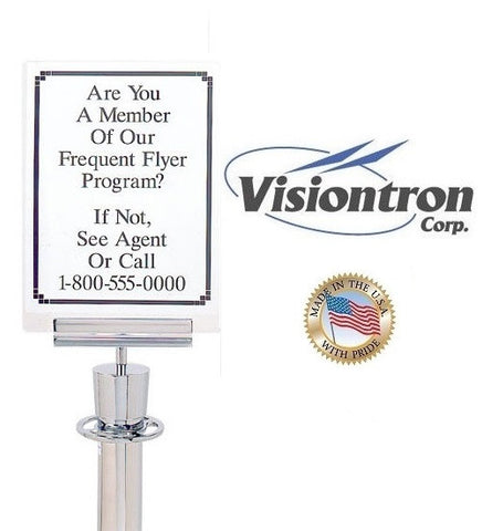 Visiontron Clear Acrylic Announcement Display with Sign Bracket