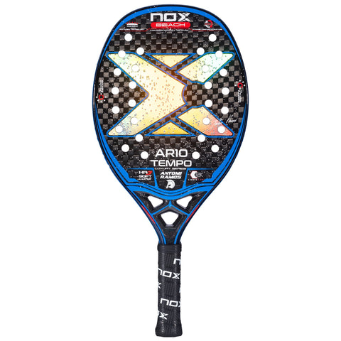 Beach tennis racket NOX AR10 Tempo. The racket of Antomi Ramos. Frontal