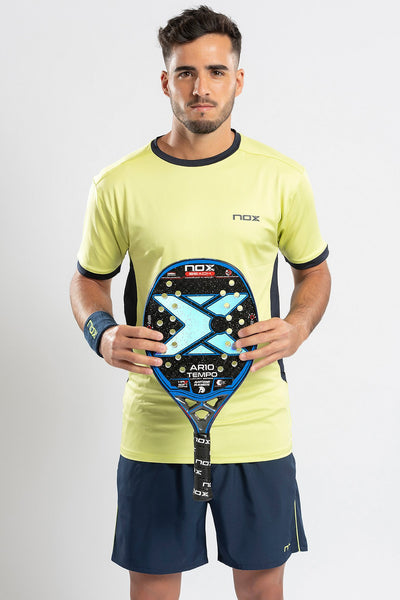T-SHIRT da beach tennis PRO UOMO giallo lime