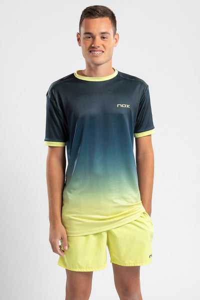 T-SHIRT da beach tennis PRO UOMO blu navy - giallo lime
