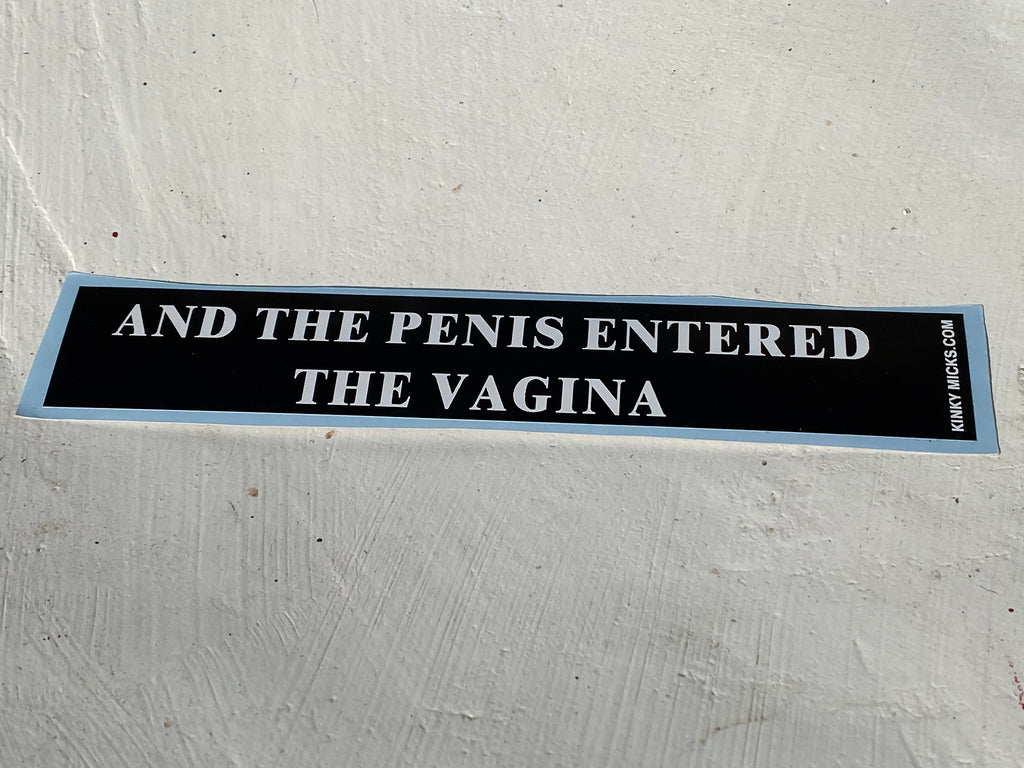 AND THE PENIS ENTERED THE VAGINA script