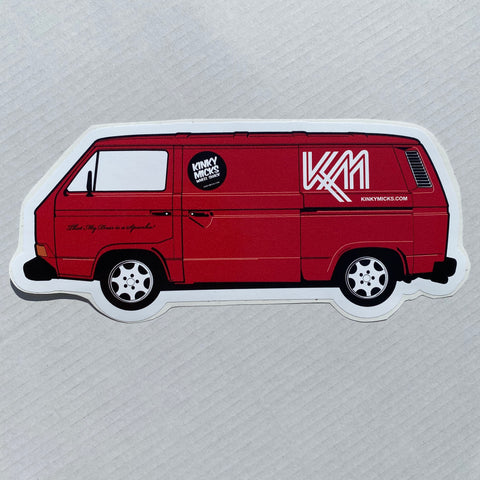 Kinky Micks Sticker KMS0157 Red t25