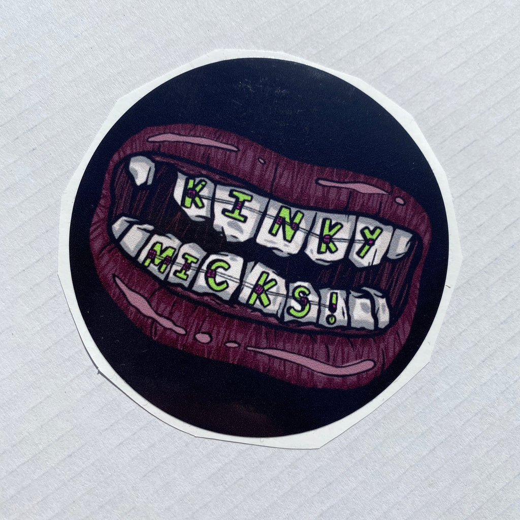 Kinky Micks Sticker KMS0153 Kinky Teeth