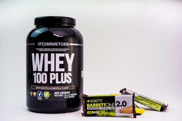 Pachet Whey 100 PLUS + Protein Bar Barrettone