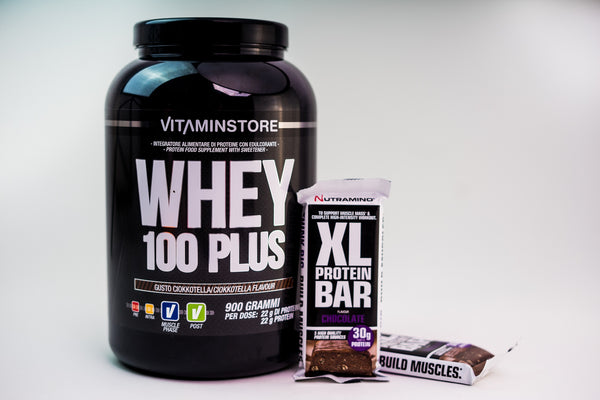 Pachet Whey 100 PLUS + XL Protein Bar