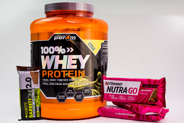 Pachet 2kg 100% Whey Protein + Protein Bars
