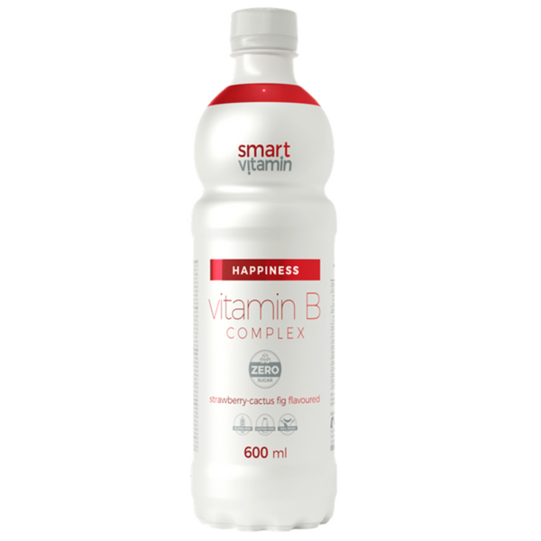 Smart Vitamin B Complex 600 ml Strawberry-Cactus Flavour
