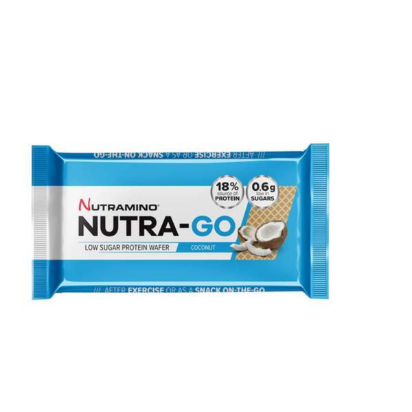 Nutra-Go Low sugar protein wafer coconut