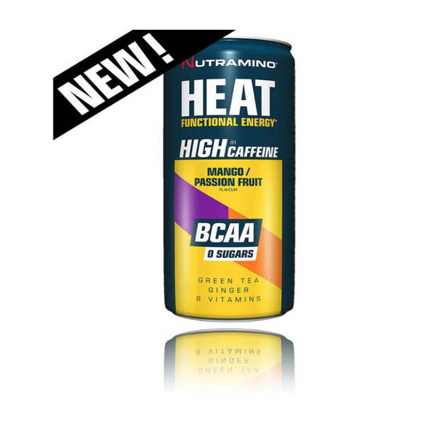 Nutramino Pre-workout Heat BCAA Mango&Passsion fruit 330ml | fara zahar | 0 calorii | pre workout