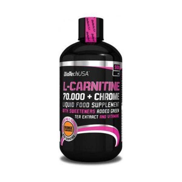 L-Carnitine 70.000 + Chrome 500ml Biotech Orange sau Mere