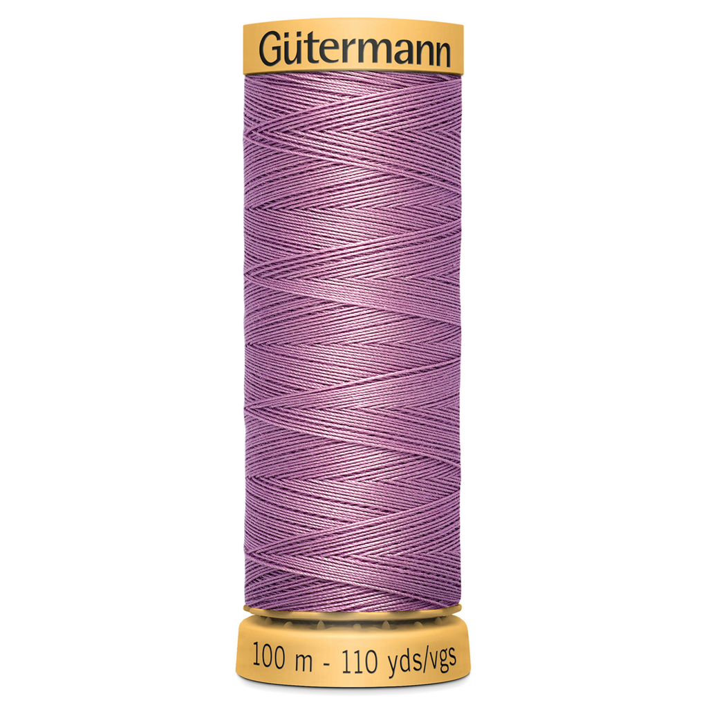 3526-100m Gutermann 100/% Natural Cotton Sew-all Thread Pink Lilac Col