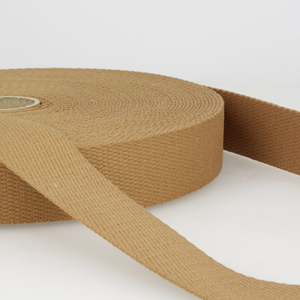 30mm Cotton Webbing - Dark Beige