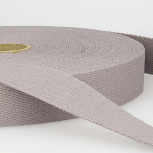 30mm Cotton Webbing - Medium Grey