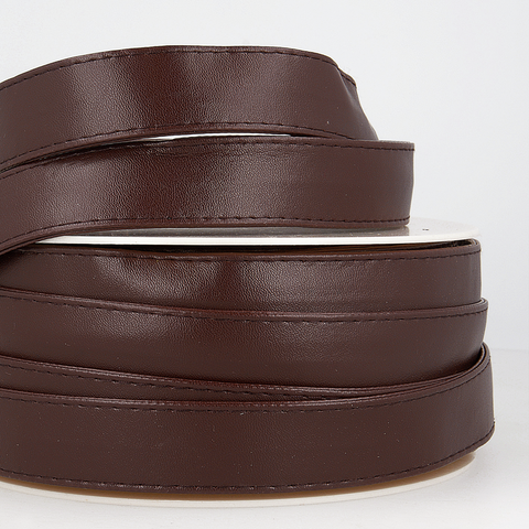 25mm Faux Leather Strapping - Dark Brown