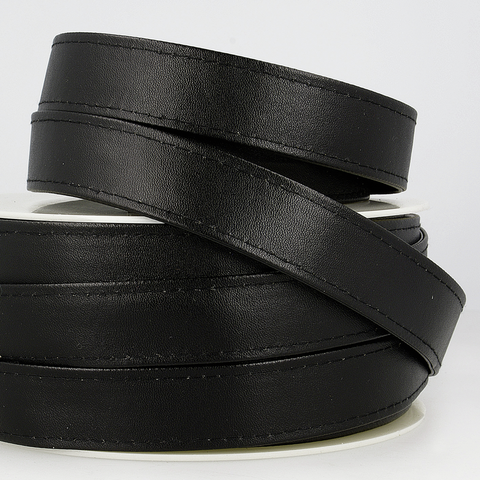 25mm Faux Leather Strapping - Black