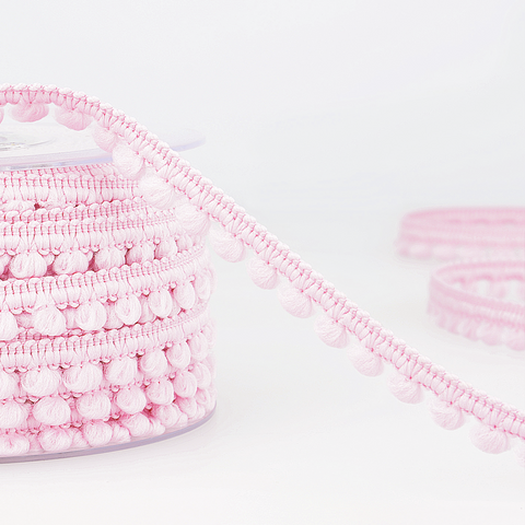 6mm Mini Pom Pom Trim - Light Pink