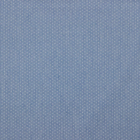 Micro Dot Light Printed Chambray Denim Fabric