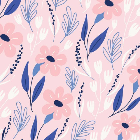 P&B Meadow Lane - Main Pink - 100% Cotton Fabric