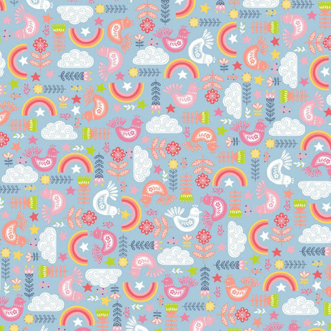 Shine Bright Like The Rainbow Printed Soft Shell Fabric