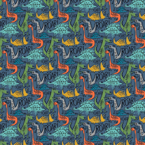 The Dino's Are Back Printed Soft Shell Fabric